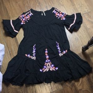 FREE PEOPLE embroidered ruffle dress